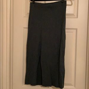 Olive green free people skirt